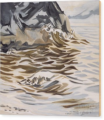 The Eagles Nest At Gower Point Wood Print