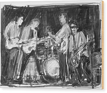 The Early Beatles Wood Print by Russell Pierce