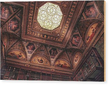 Wood Print featuring the photograph The East Room Ceiling by Jessica Jenney