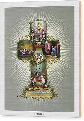 The Easter Cross Wood Print by War Is Hell Store