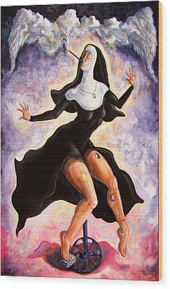 The Ecstasy Of Mother Liberation  Wood Print by Darwin Leon