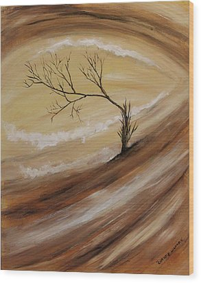 The Edge Wood Print