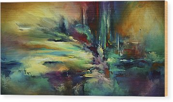 'the Edge' Wood Print by Michael Lang