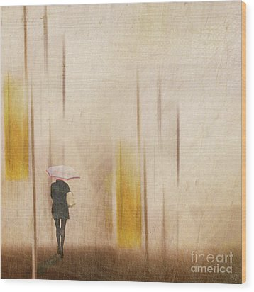 Wood Print featuring the photograph The Edge Of Autumn by LemonArt Photography