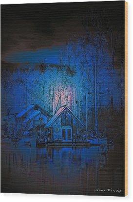 The Edge Of Night Wood Print by Steve Warnstaff