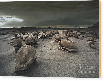 The Egg Factory - Bisti Badlands Wood Print by Keith Kapple
