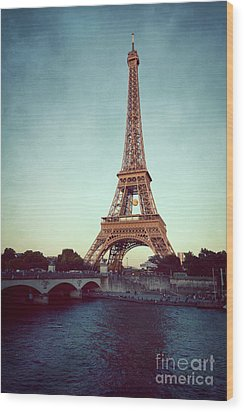 Wood Print featuring the photograph The Eifeltower by Hannes Cmarits
