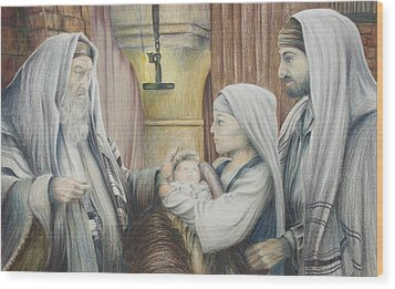Wood Print featuring the drawing The Eighth Day by Rick Ahlvers