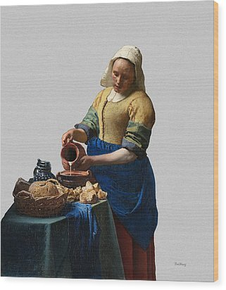 The Elegance Of The Kitchen Maid Wood Print