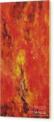 The Elements Fire #1 Wood Print