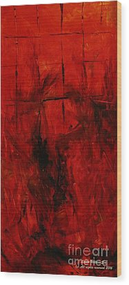 The Elements Fire #3 Wood Print