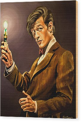 The Eleventh Doctor Wood Print by Emily Jones