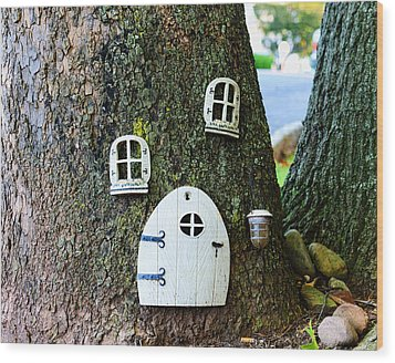 The Elf House Wood Print by Paul Ward