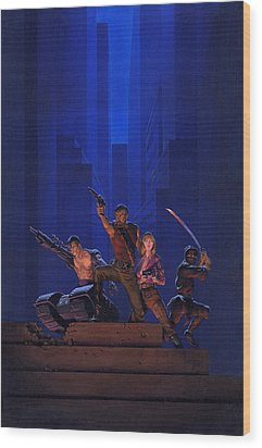 The Eliminators Wood Print by Richard Hescox