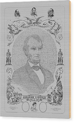 The Emancipation Proclamation Wood Print by War Is Hell Store