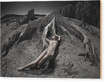 Wood Print featuring the photograph Deaths Embrace by Dario Infini