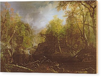 The Emerald Pool Wood Print by Albert Bierstadt