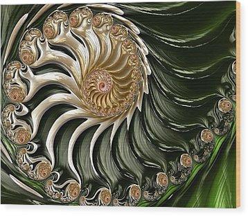 The Emerald Queen's Nautilus Wood Print by Susan Maxwell Schmidt