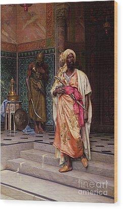 The Emir Wood Print by Ludwig Deutsch