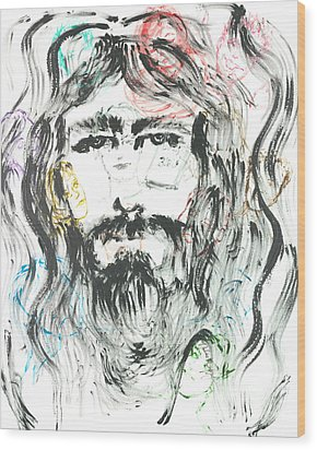 The Emotions Of Jesus Wood Print by Nadine Rippelmeyer