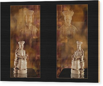 The Emperor And His Wife Wood Print by Judi Quelland