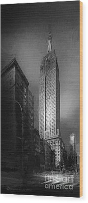 Wood Print featuring the photograph The Empire State Ch by Marvin Spates