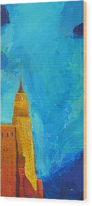 The Empire State Wood Print by Habib Ayat