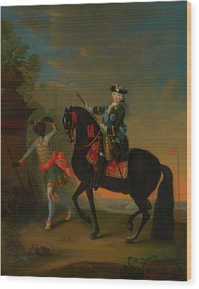Wood Print featuring the painting The Empress Elizabeth Of Russia by Georg Grooth