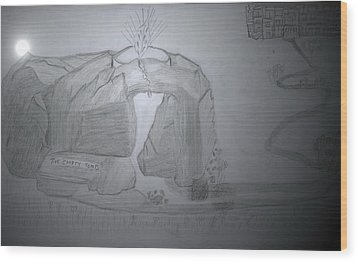 The Empty Tomb Wood Print by Lucy Mugambi