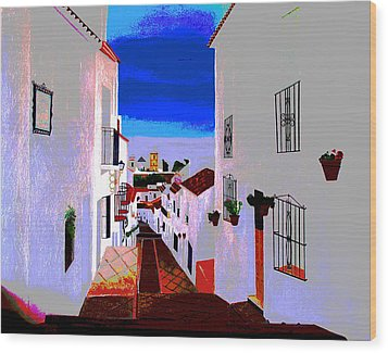 The Enchanted Village Of Mijas Wood Print