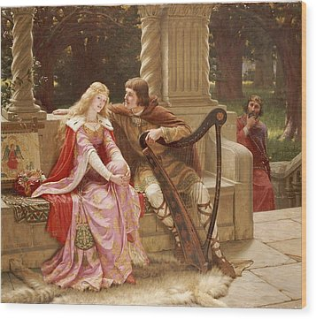 The End Of The Song Wood Print by Edmund Blair Leighton