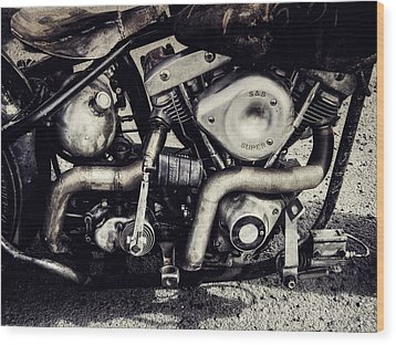 Wood Print featuring the photograph The Engine by Ari Salmela