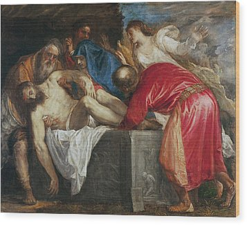 The Entombment Of Christ Wood Print by Titian