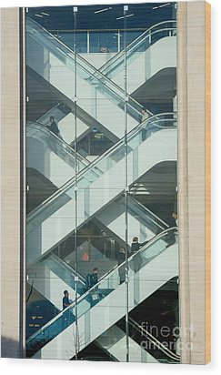 The Escalators Wood Print by Colin Rayner