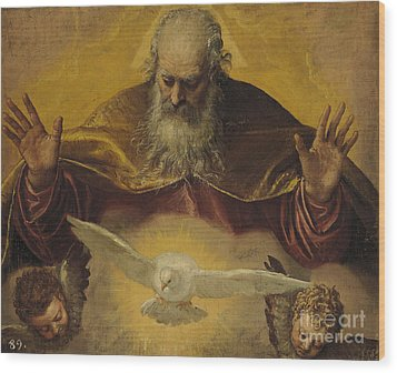 The Eternal Father Wood Print by Paolo Caliari Veronese