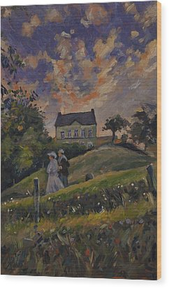 The Evening Stroll Around The Hoeve Zonneberg Wood Print by Nop Briex