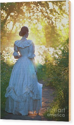 The Evening Walk Wood Print