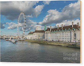 The Eye London Wood Print by Adrian Evans