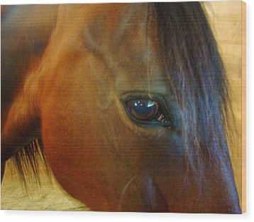 The Eye Of Beauty Wood Print by Lisa Rose Musselwhite