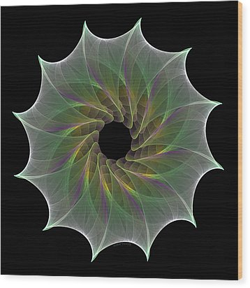 Wood Print featuring the digital art The Eye Of God by Denise Beverly
