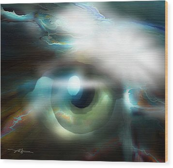 The Eye Of The Storm Wood Print
