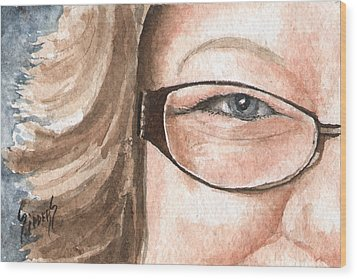 The Eyes Have It - Emma Wood Print by Sam Sidders