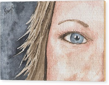 The Eyes Have It - Jill Wood Print by Sam Sidders