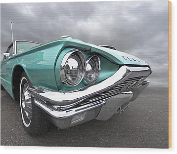 Wood Print featuring the photograph The Eyes Have It - 1964 Thunderbird by Gill Billington