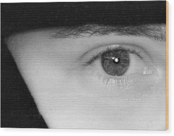 The Eyes Have It Wood Print by Christine Till