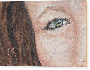 The Eyes Have It-jenifer Wood Print by Sam Sidders
