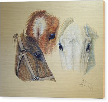 Wood Print featuring the drawing The Eyes Have It by Suzanne McKee