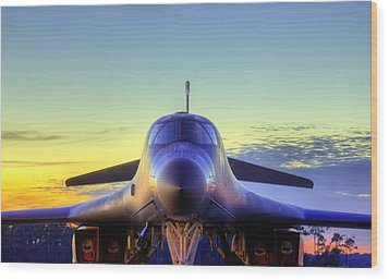 Wood Print featuring the photograph The Face Of American Airpower by JC Findley