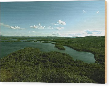 The Face Of Squam Wood Print by Rick Frost