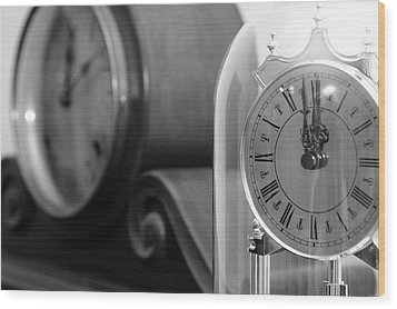 Wood Print featuring the photograph The Faces Of Time by Wanda Brandon